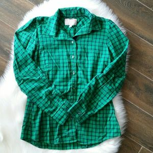 B2G1 Banana Republic Green Flannel Button Down